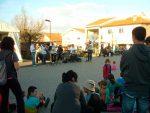 Actuación musical callejera en Vieux Boucau