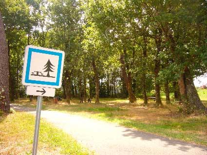 Cartel de merendero en la ruta circular a Contis Plage