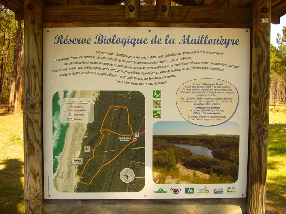 Cartel Reserva biológica de La Mailloueyre