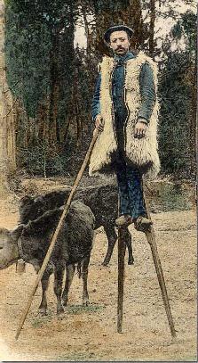 Los habitantes de Las Landas utilizaban zancos para poder moverse por las tierras pantanosas.