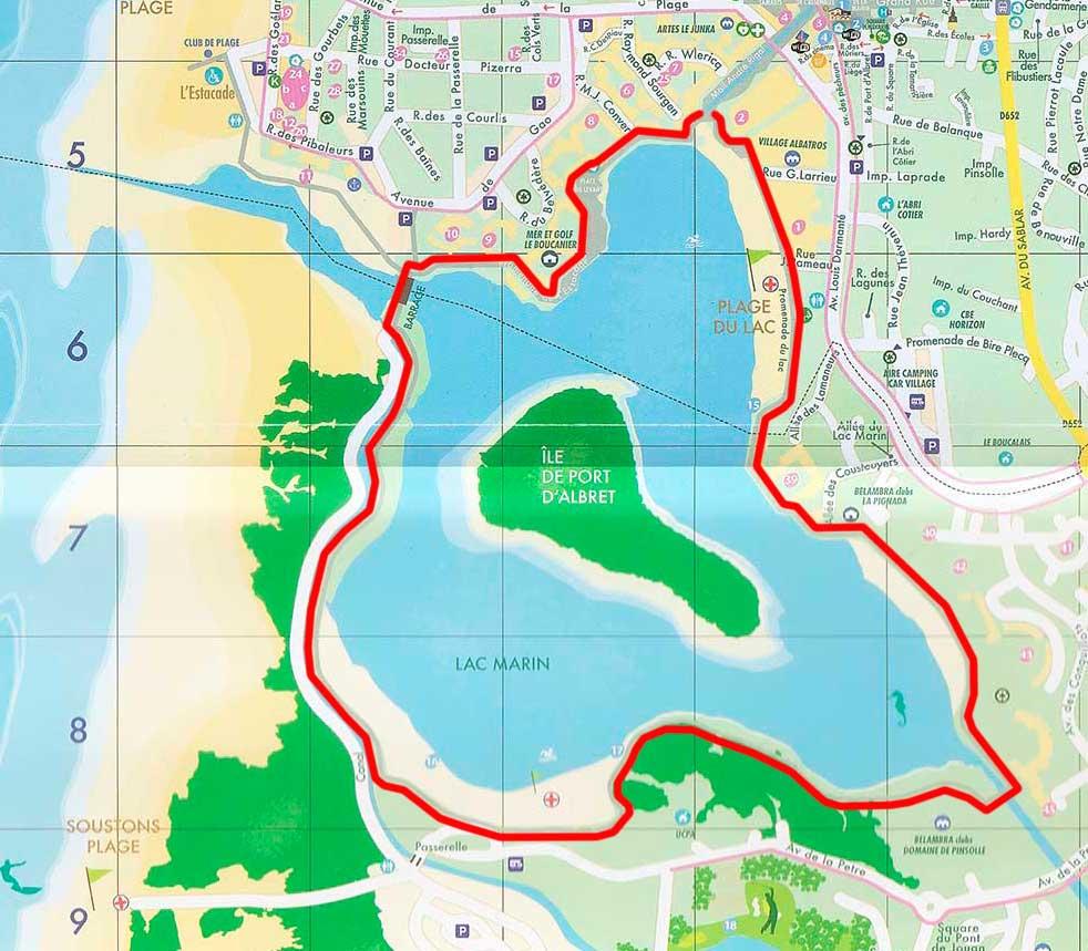 Vuelta al lago de Vieux Boucau (4 km)