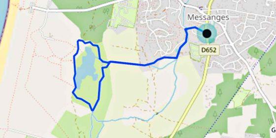MESSANGES. Vuelta al lago de Moïsan (4,9 km)