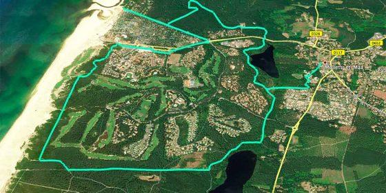 MOLIETS-ET-MAA. Ruta del riachuelo de La Prade y del swing (12,6 km)